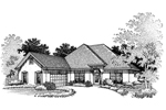 Sunbelt Home Plan Front of Home - 072D-0672 | House Plans and More