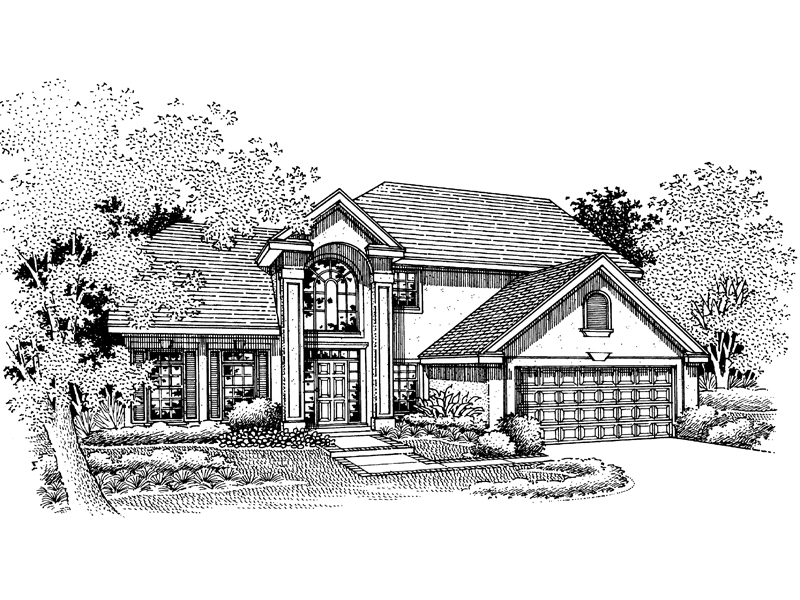 Sunbelt Home Plan Front of Home - 072D-0673 | House Plans and More