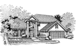 Traditional House Plan Front of Home - 072D-0673 | House Plans and More