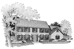 Traditional House Plan Front of Home - 072D-0674 | House Plans and More