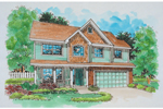 Farmhouse Plan Front of Home - 072D-0676 | House Plans and More