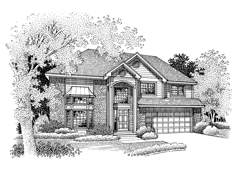 Modern House Plan Front of Home - 072D-0677 | House Plans and More
