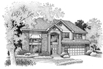 Traditional House Plan Front of Home - 072D-0677 | House Plans and More