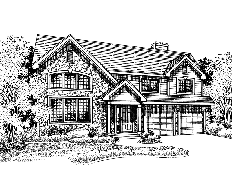 Craftsman House Plan Front of Home - 072D-0678 | House Plans and More