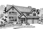 Modern House Plan Front of Home - 072D-0678 | House Plans and More