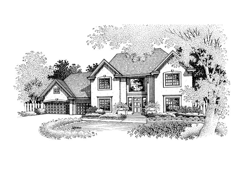 Modern House Plan Front of Home - 072D-0681 | House Plans and More