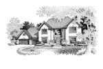 Traditional House Plan Front of Home - 072D-0681 | House Plans and More