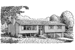 Traditional House Plan Front of Home - 072D-0686 | House Plans and More