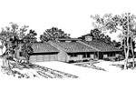 Southern House Plan Front of Home - 072D-0688 | House Plans and More