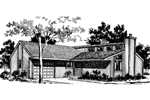 Ranch House Plan Front of Home - 072D-0689 | House Plans and More