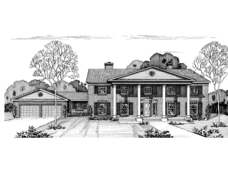 Georgian House Plan Front of Home - 072D-0693 | House Plans and More