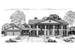 Southern Plantation Plan Front of Home - 072D-0693 | House Plans and More