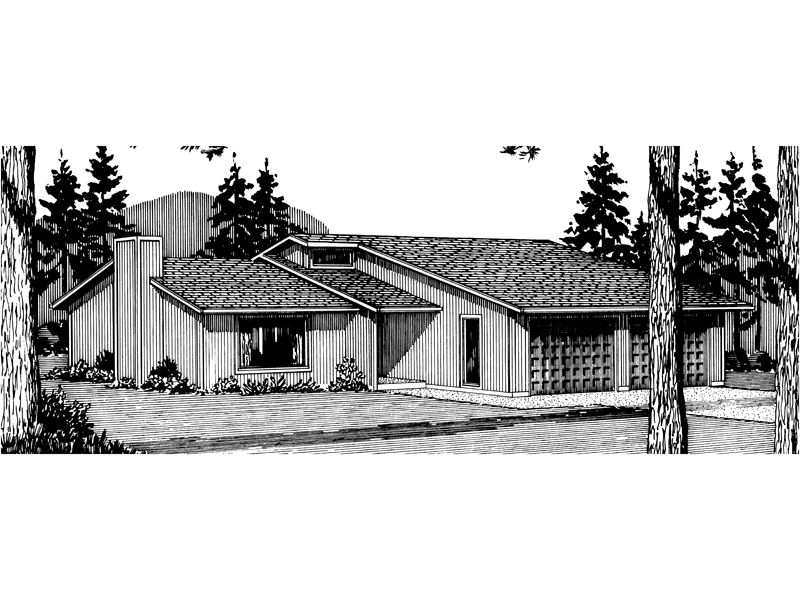 Ranch House Plan Front of Home - 072D-0698 | House Plans and More