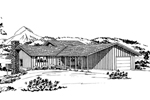 Mountain Home Plan Front of Home - 072D-0720 | House Plans and More