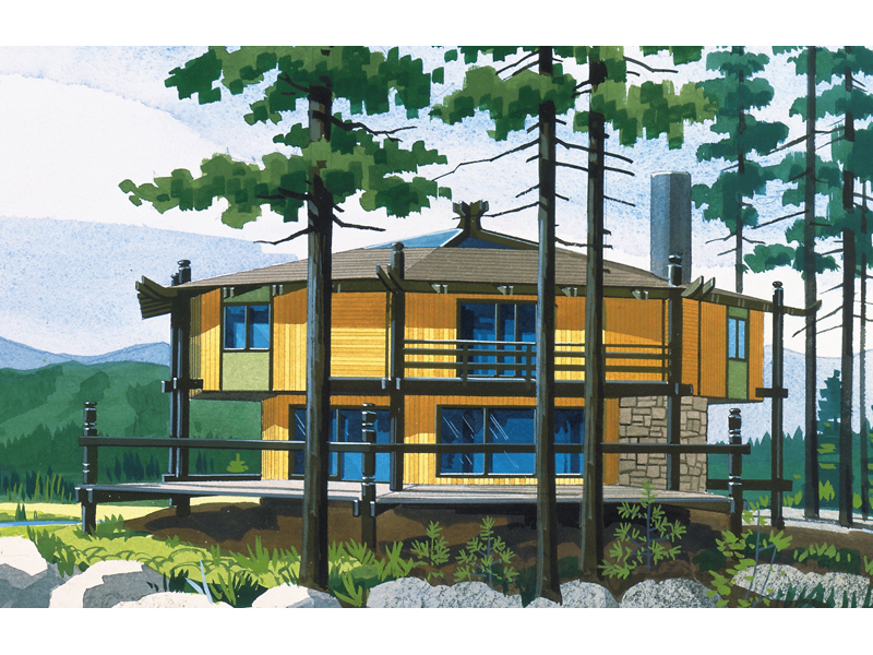 Mountain Home Plan Front of Home - 072D-0721 | House Plans and More