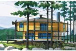 Waterfront Home Plan Front of Home - 072D-0721 | House Plans and More