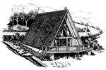 A-Frame House Plan Front of Home - 072D-0746 | House Plans and More