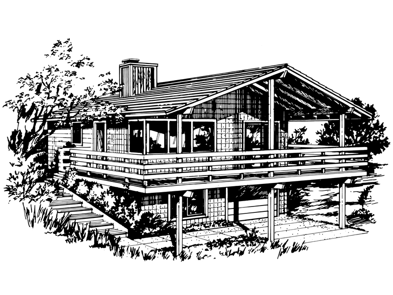 Waterfront Home Plan Front of Home - 072D-0749 | House Plans and More