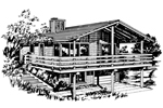 Lake House Plan Front of Home - 072D-0749 | House Plans and More