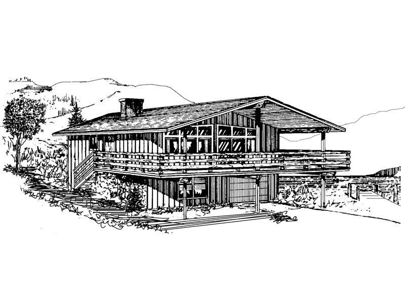 A-Frame Home Plan Front of Home - 072D-0750 | House Plans and More