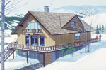 Rustic Home Plan Front of Home - 072D-0753 | House Plans and More