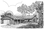 Southern House Plan Front of Home - 072D-0754 | House Plans and More