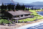 Waterfront Home Plan Front of Home - 072D-0755 | House Plans and More