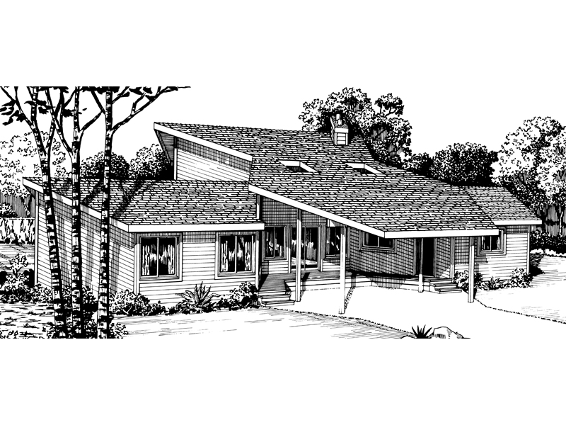 Traditional House Plan Front of Home - 072D-0760 | House Plans and More