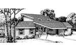 Southern House Plan Front of Home - 072D-0760 | House Plans and More