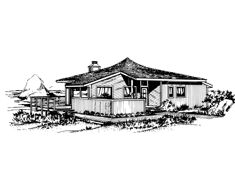 Ranch House Plan Front of Home - 072D-0766 | House Plans and More