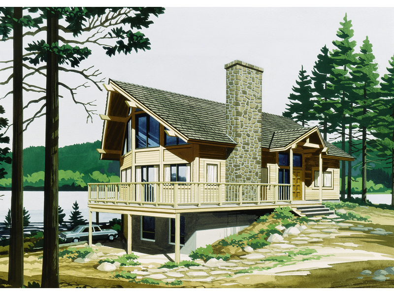 Cabin and Cottage Plan Front of Home - 072D-0768 | House Plans and More