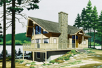 Vacation Home Plan Front of Home - 072D-0768 | House Plans and More