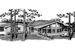 Ranch House Plan Front of Home - 072D-0772 | House Plans and More