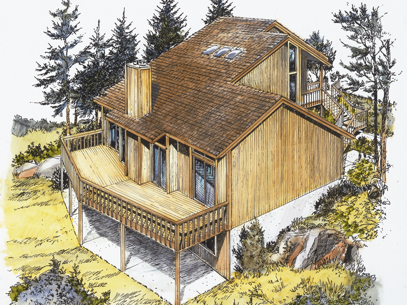 Mountain Home Plan Front of Home - 072D-0774 | House Plans and More