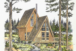 A-Frame Home Plan Front of Home - 072D-0775 | House Plans and More