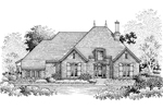 Ranch House Plan Front of Home - 072D-0776 | House Plans and More