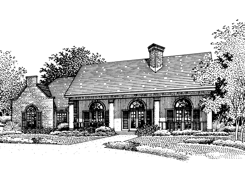 Southern Plantation Plan Front of Home - 072D-0777 | House Plans and More