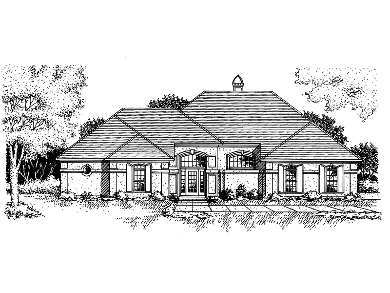 Ranch House Plan Front of Home - 072D-0778 | House Plans and More