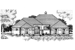 Colonial House Plan Front of Home - 072D-0778 | House Plans and More