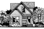 Vacation Home Plan Front of Home - 072D-0779 | House Plans and More