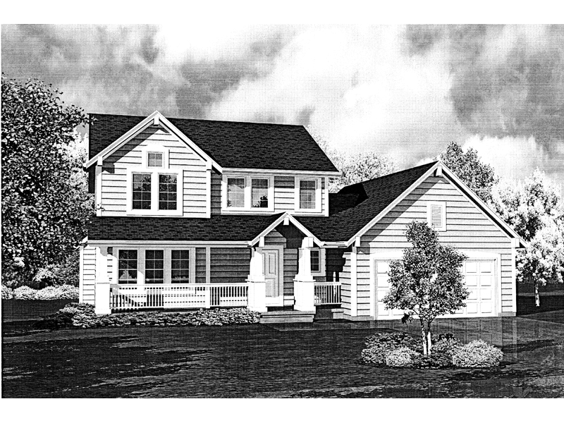 Traditional House Plan Front of Home - 072D-0780 | House Plans and More