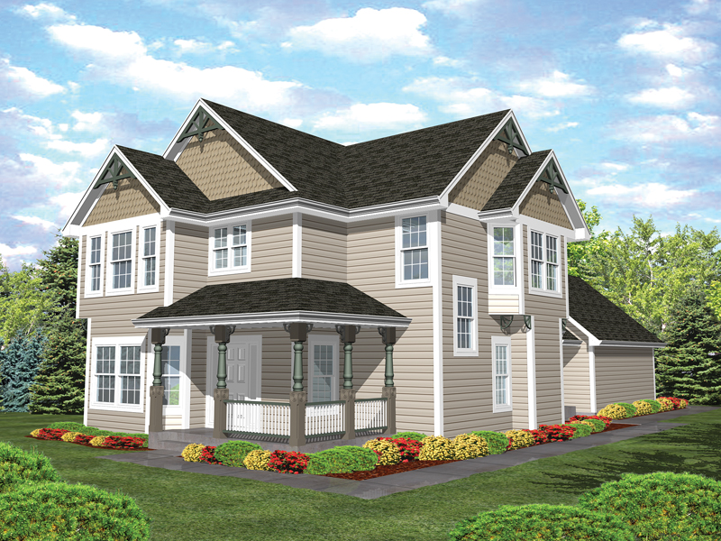 Farmhouse Plan Front of Home - 072D-0784 | House Plans and More