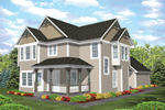 Farmhouse Home Plan Front of Home - 072D-0784 | House Plans and More