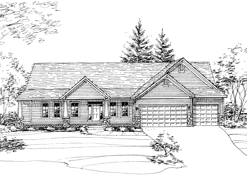 Traditional House Plan Front of Home - 072D-0789 | House Plans and More