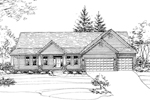 Ranch House Plan Front of Home - 072D-0789 | House Plans and More