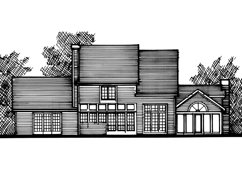 Modern House Plan Front of Home - 072D-0798 | House Plans and More