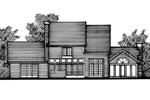 Colonial House Plan Front of Home - 072D-0798 | House Plans and More