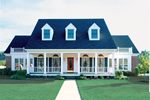 Farmhouse Plan Front of Home - 072D-0799 | House Plans and More