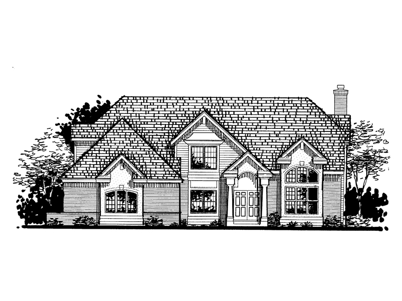 Southern House Plan Front of Home - 072D-0805 | House Plans and More
