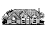Traditional House Plan Front of Home - 072D-0805 | House Plans and More